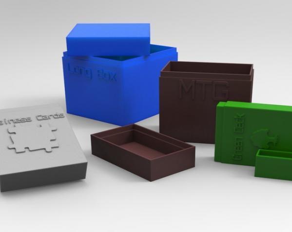 定制化名片盒模型 3D模型  图2