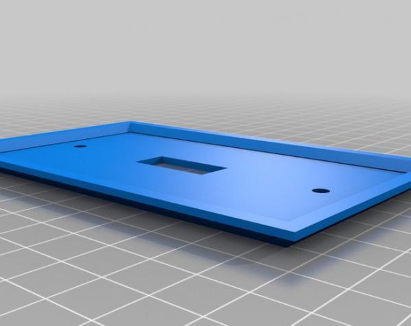 定制化壁装插座板 3D模型  图4