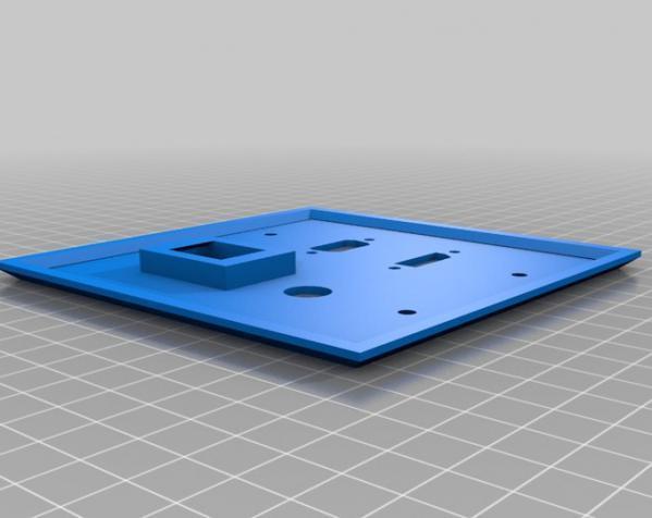 定制化壁装插座板 3D模型  图5