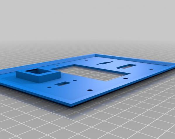 定制化壁装插座板 3D模型  图6