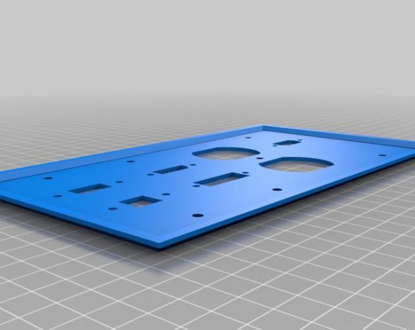 定制化壁装插座板 3D模型  图7