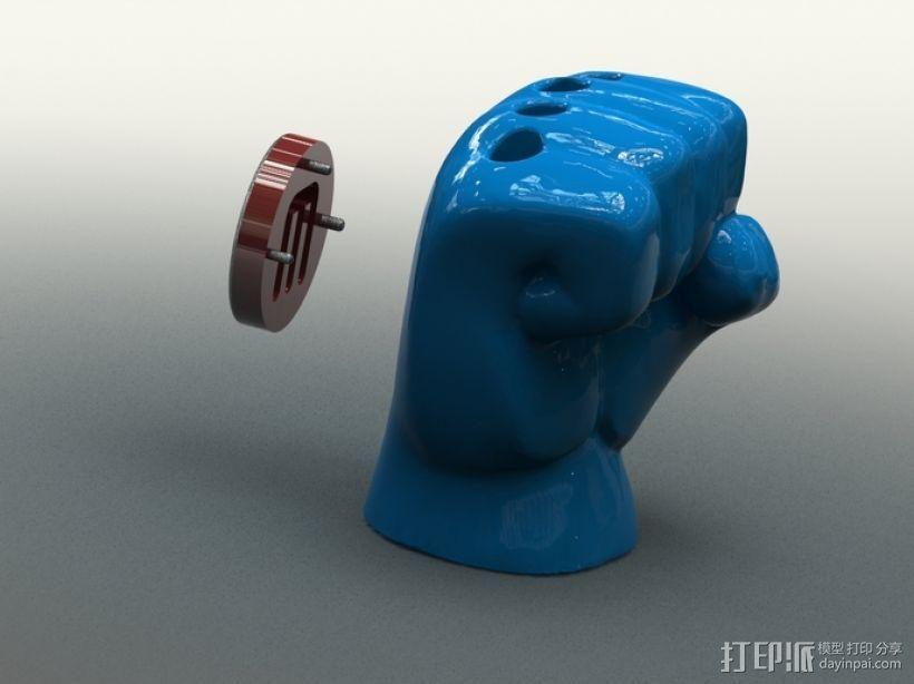 手形笔筒模型 3D模型  图2
