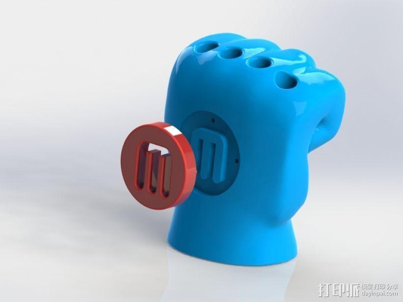手形笔筒模型 3D模型  图1