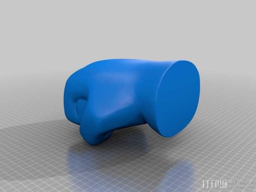 手形笔筒模型 3D模型  图6