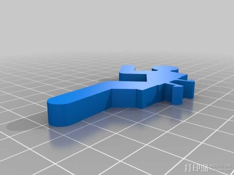 迷你人形书立模型 3D模型  图7