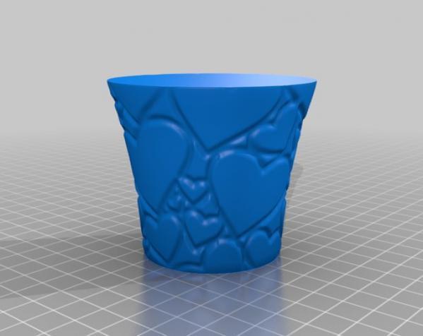 情人节水杯模型 3D模型  图1