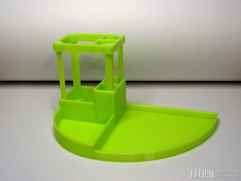 办公用品整理装置 3D模型  图2