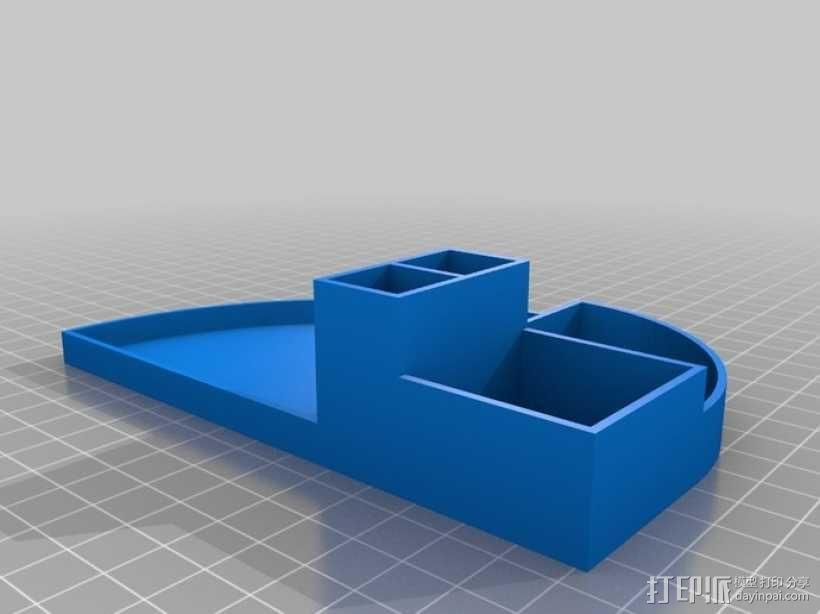 办公用品整理装置 3D模型  图6