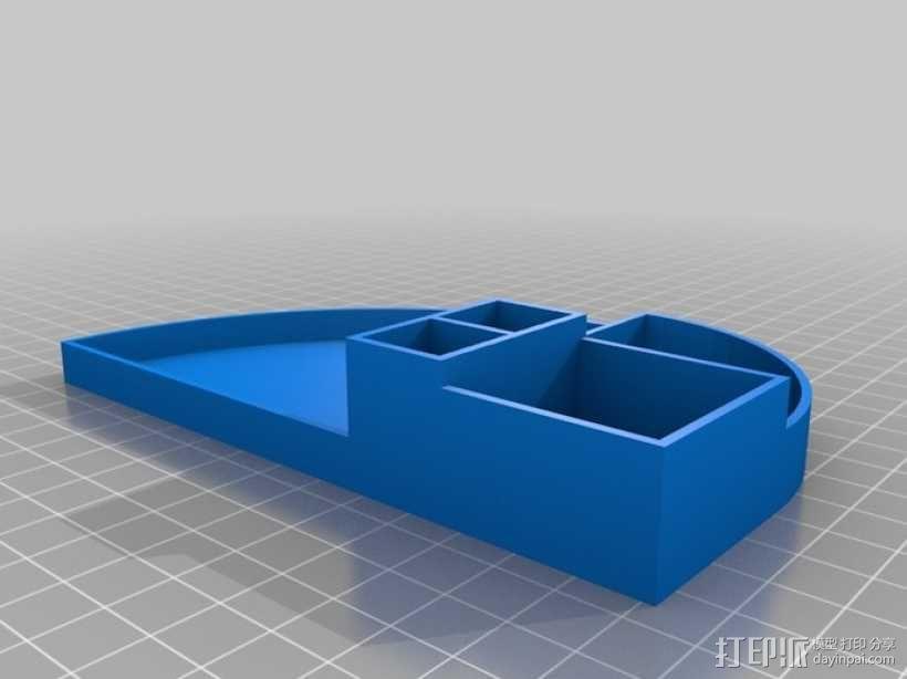 办公用品整理装置 3D模型  图7