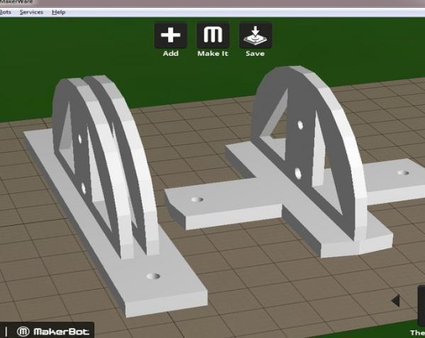 聚光灯旋转底座模型 3D模型  图4