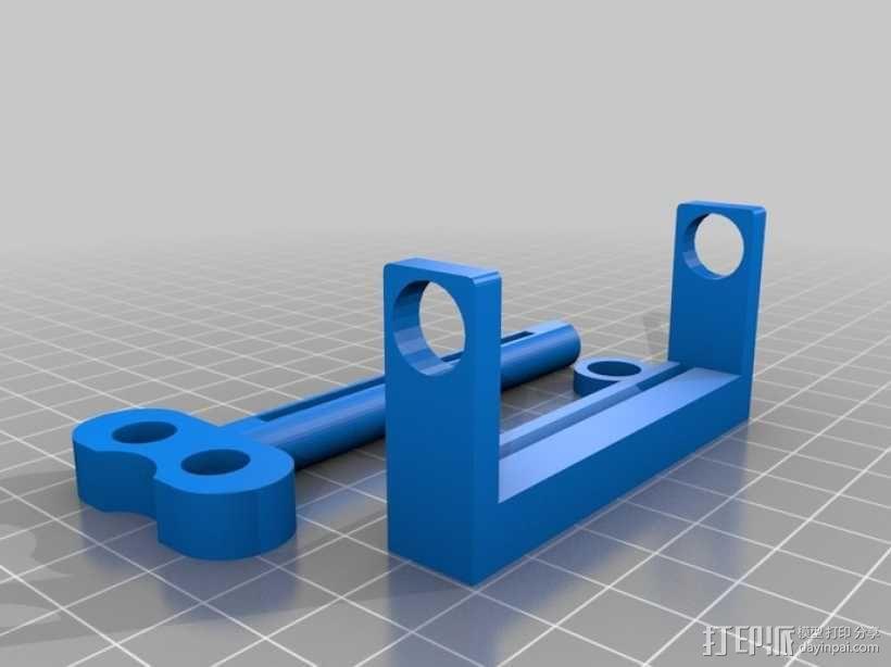 管状物品挤出装置 3D模型  图2