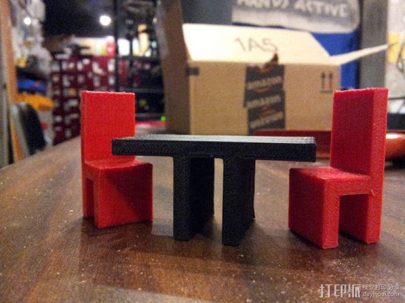 迷你座椅模型 3D模型  图2