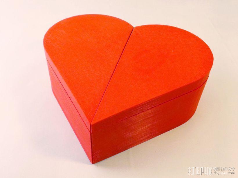 心形礼物盒模型 3D模型  图2