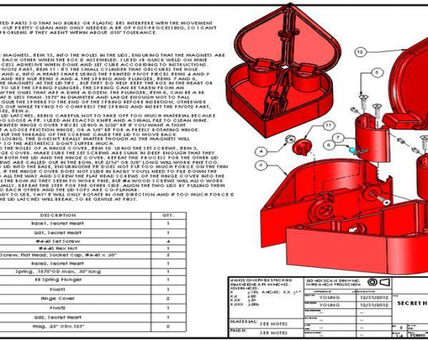 心形礼物盒模型 3D模型  图5
