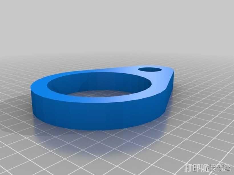 通用淋浴设备固定器 3D模型  图2