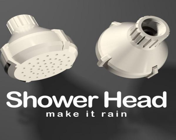 淋浴喷头MK1 3D模型  图2