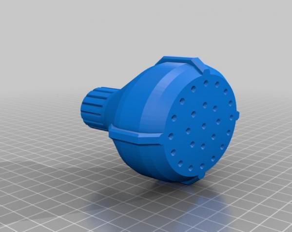 淋浴喷头MK1 3D模型  图3