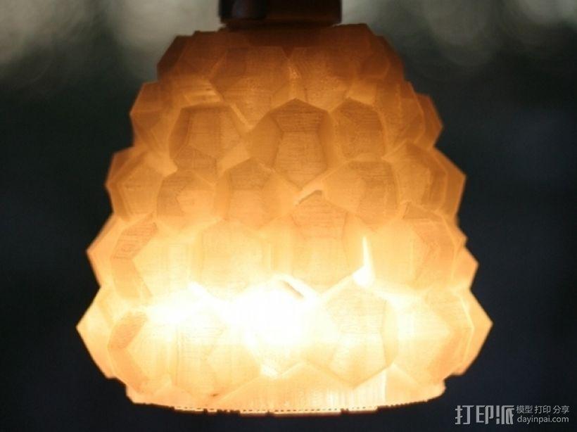 迷你几何形灯罩模型02 3D模型  图1
