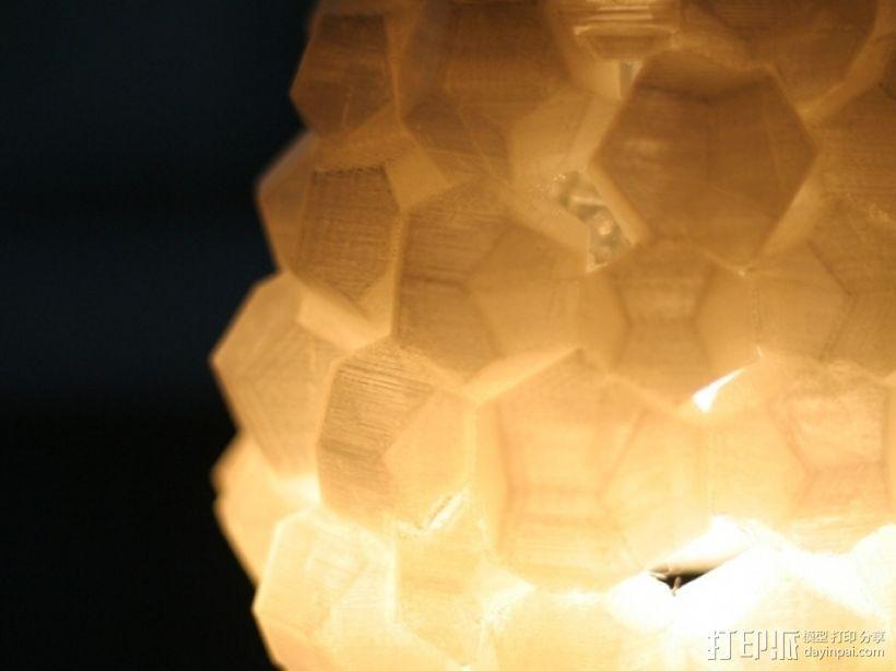迷你几何形灯罩模型02 3D模型  图3