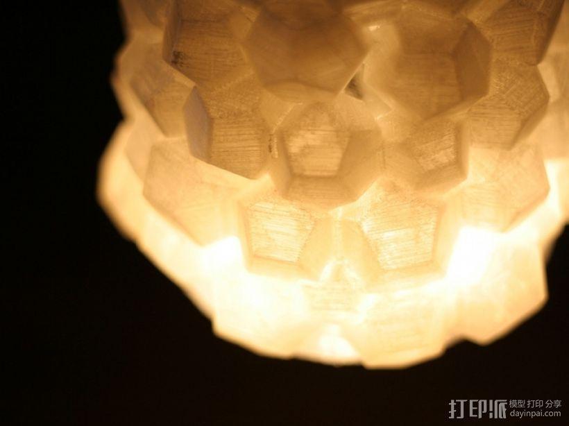 迷你几何形灯罩模型02 3D模型  图4