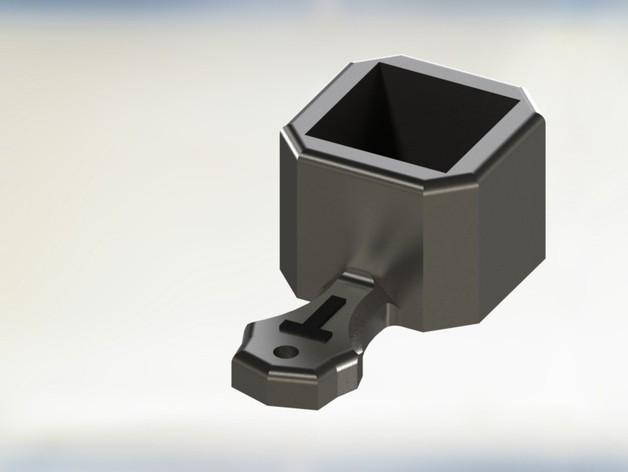 简易量勺模型 3D模型  图1