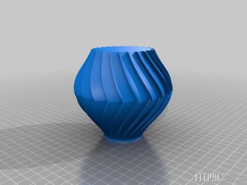 锯齿形花瓶模型 3D模型  图2
