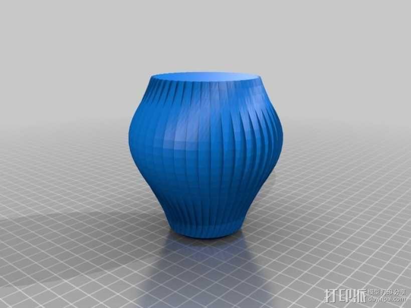 锯齿形花瓶模型 3D模型  图3