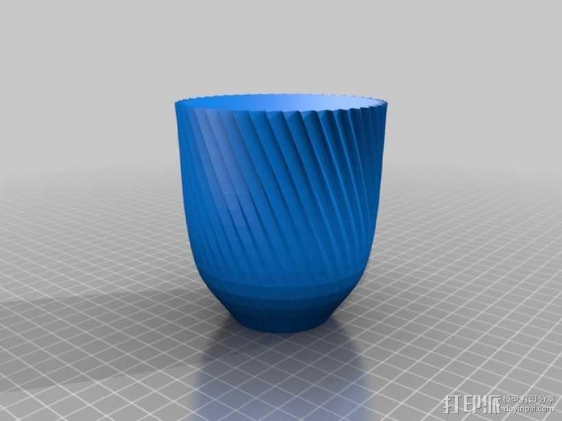 锯齿形花瓶模型 3D模型  图4