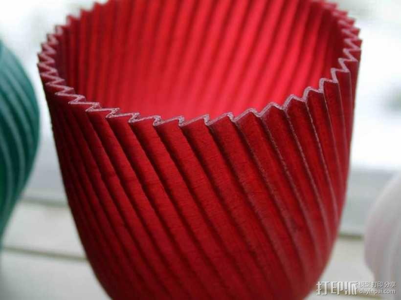 锯齿形花瓶模型 3D模型  图5