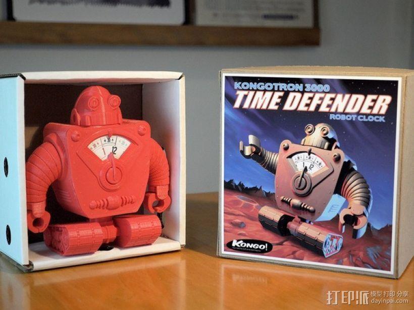 时间守护者:机器人时钟 3D模型  图1
