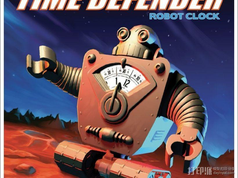 时间守护者:机器人时钟 3D模型  图4