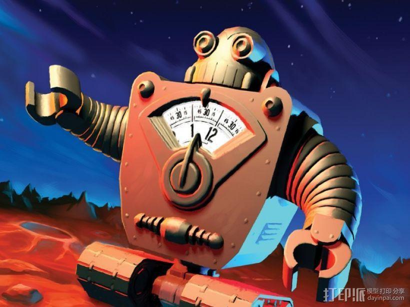 时间守护者:机器人时钟 3D模型  图5
