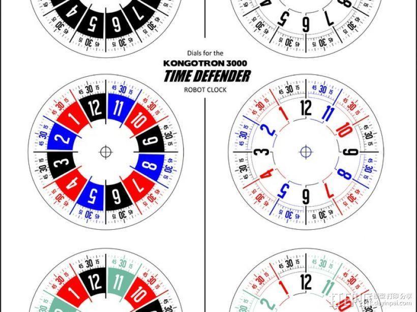 时间守护者:机器人时钟 3D模型  图12