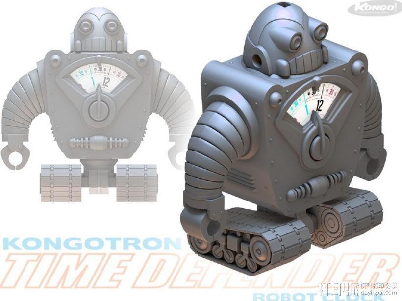 时间守护者:机器人时钟 3D模型  图10