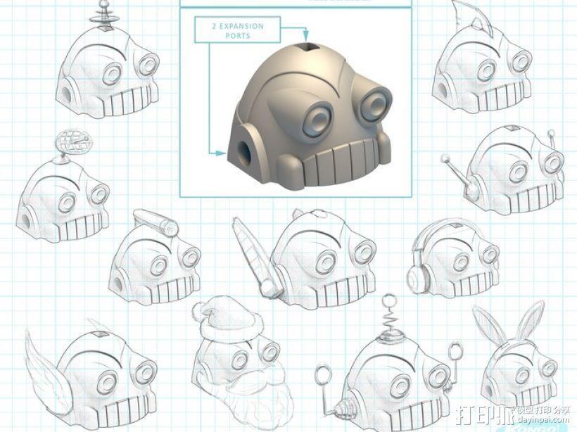 时间守护者:机器人时钟 3D模型  图13