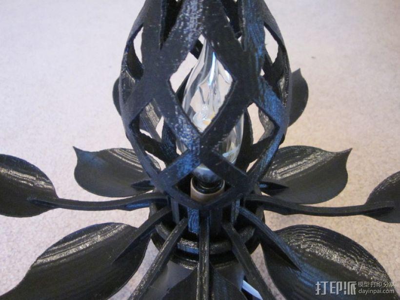 花形灯罩模型 3D模型  图2