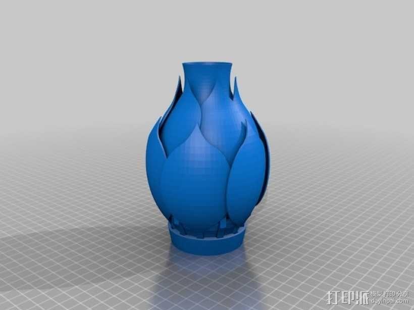 花形灯罩模型 3D模型  图9