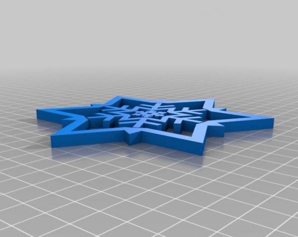 雪花形回转仪模型 3D模型  图8