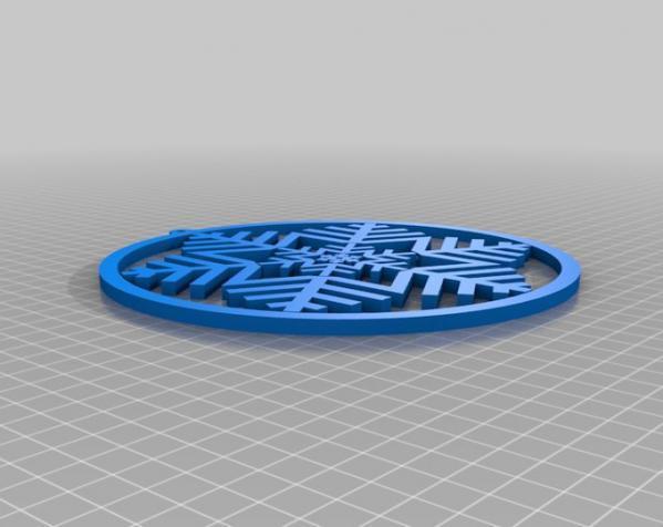 雪花形回转仪模型 3D模型  图7