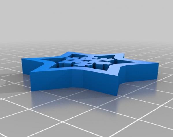 雪花形回转仪模型 3D模型  图9