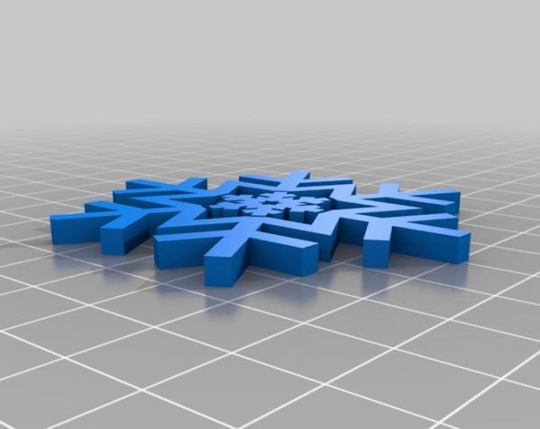 雪花形回转仪模型 3D模型  图11