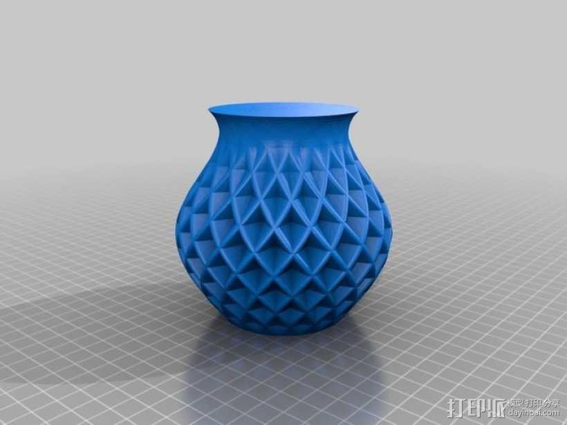 菱形花瓶模型 3D模型  图2