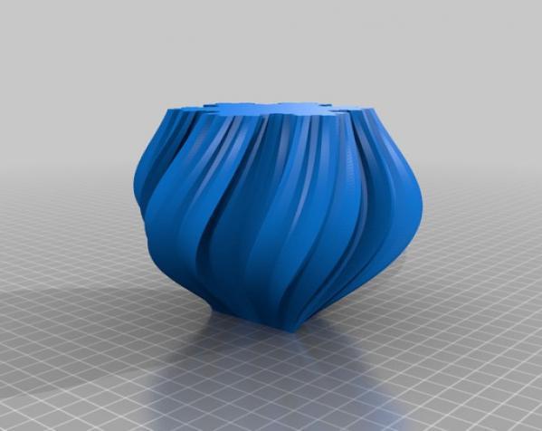不规则六边形花瓶模型 3D模型  图2