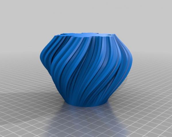 不规则六边形花瓶模型 3D模型  图3