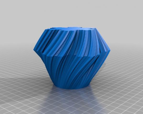 不规则六边形花瓶模型 3D模型  图4