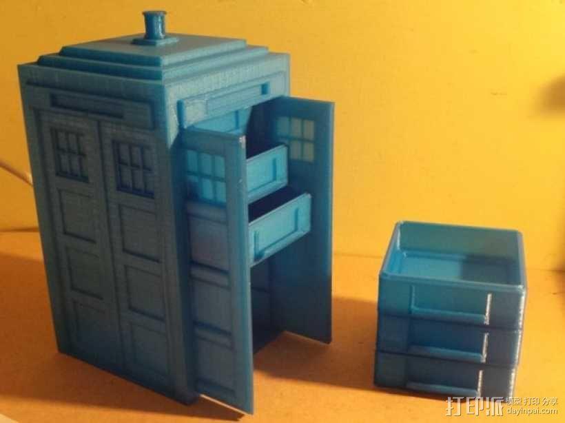 迷你Tardis箱模型 3D模型  图1