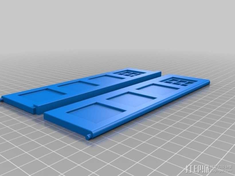 迷你Tardis箱模型 3D模型  图2