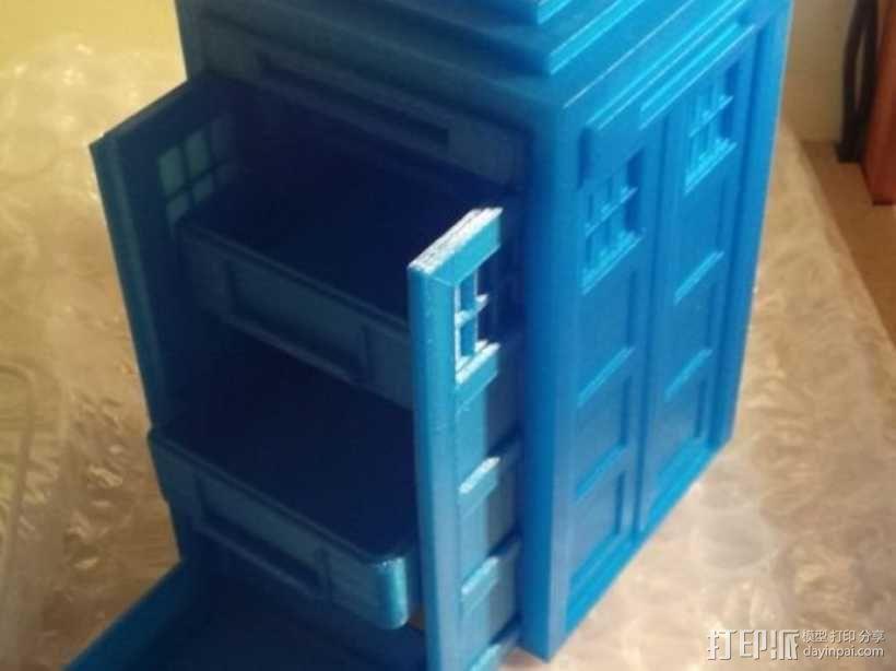 迷你Tardis箱模型 3D模型  图7