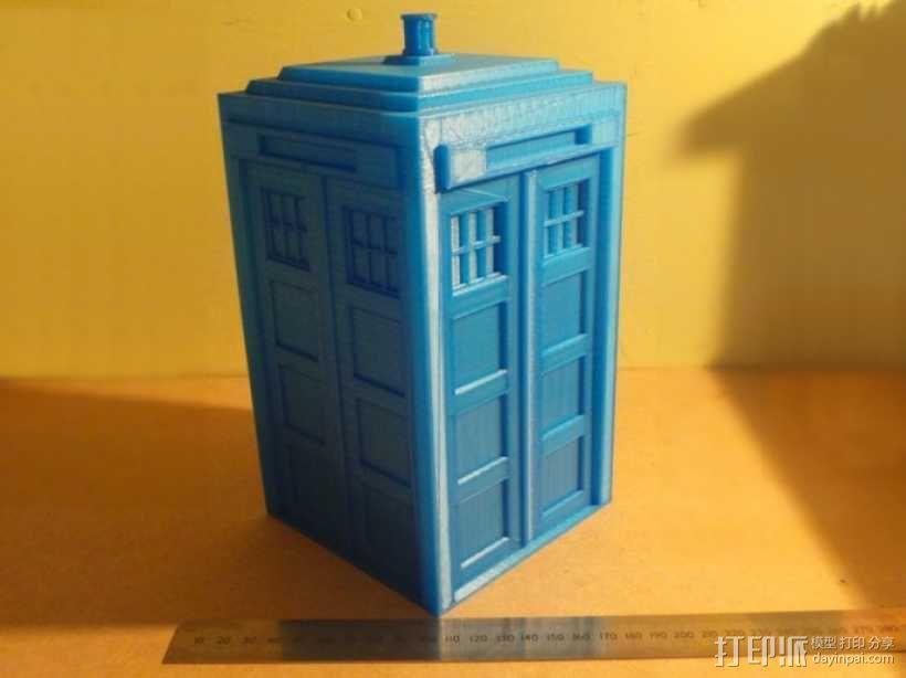 迷你Tardis箱模型 3D模型  图6