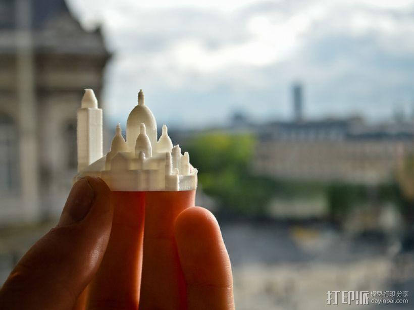 巴黎著名的建筑 3D模型  图1